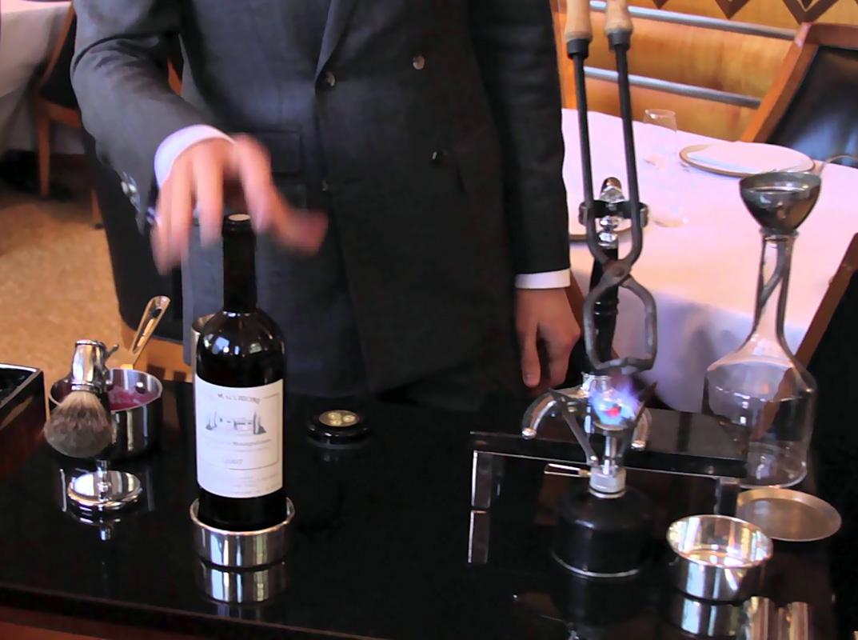 Cerimónia abertura vinho
